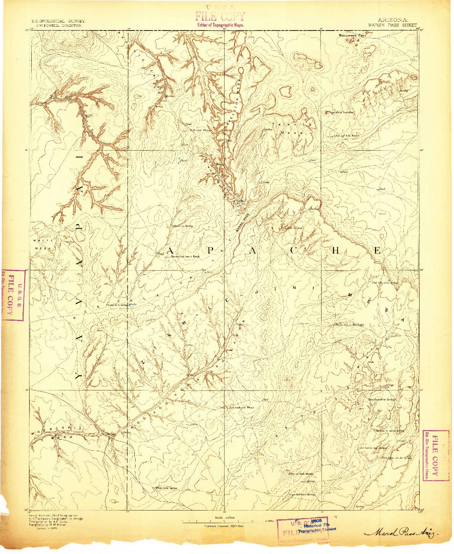 USGS 1:250000-SCALE QUADRANGLE FOR MARSH PASS, AZ 1883