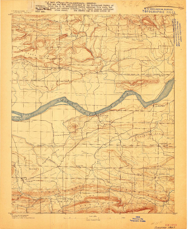 USGS 1:62500-SCALE QUADRANGLE FOR MAGAZINE MOUNTAIN #1, AR 1887