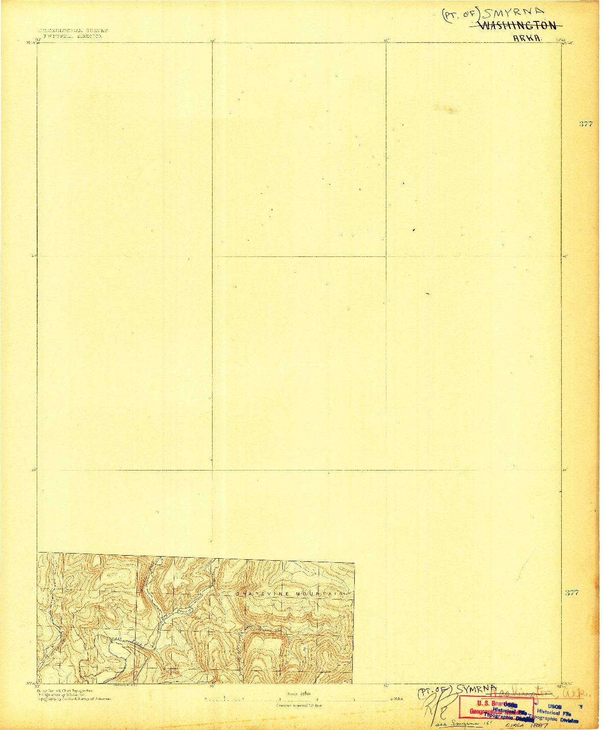USGS 1:62500-SCALE QUADRANGLE FOR SMYRNA, AR 1887