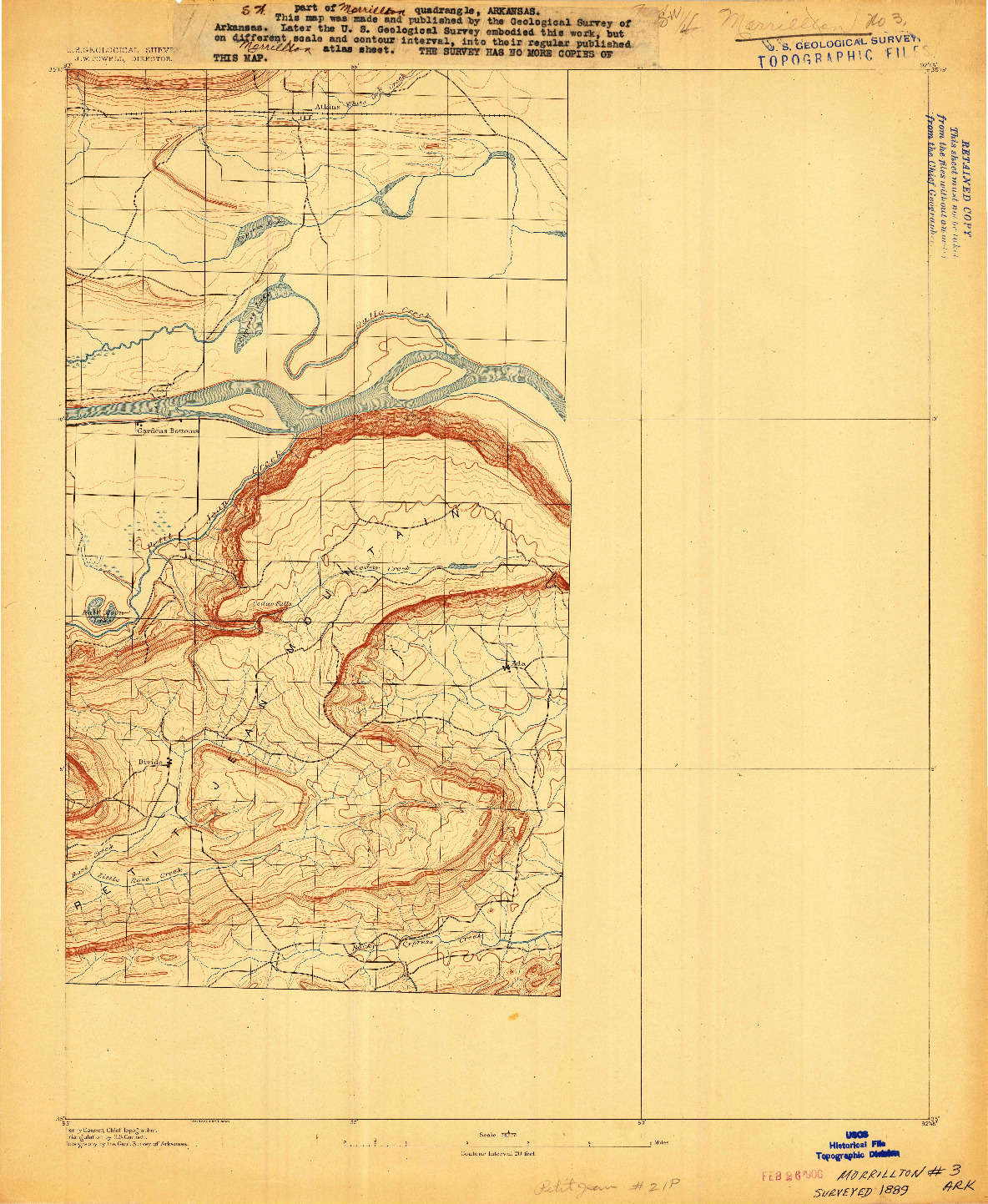USGS 1:62500-SCALE QUADRANGLE FOR MORRILTON NO. 3, AR 1889
