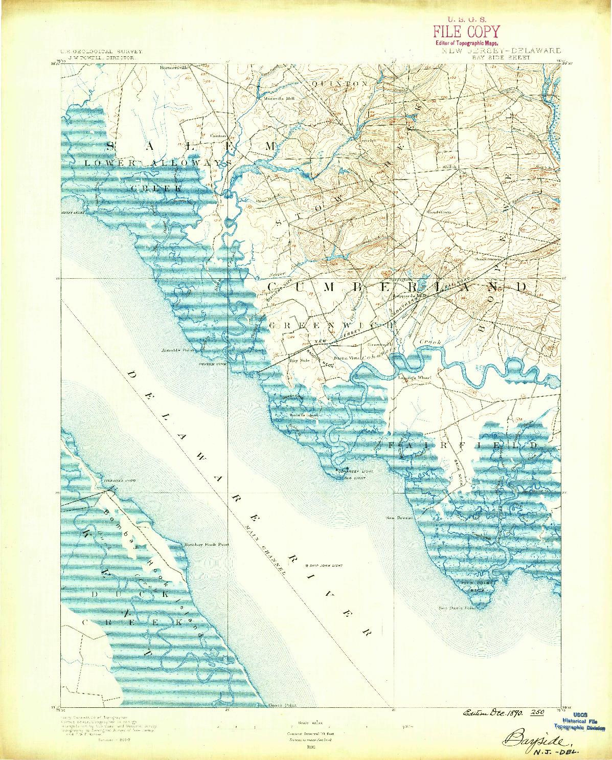 USGS 1:62500-SCALE QUADRANGLE FOR BAY SIDE, NJ 1890