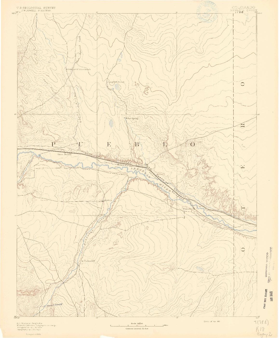 USGS 1:125000-SCALE QUADRANGLE FOR NEPESTA, CO 1891