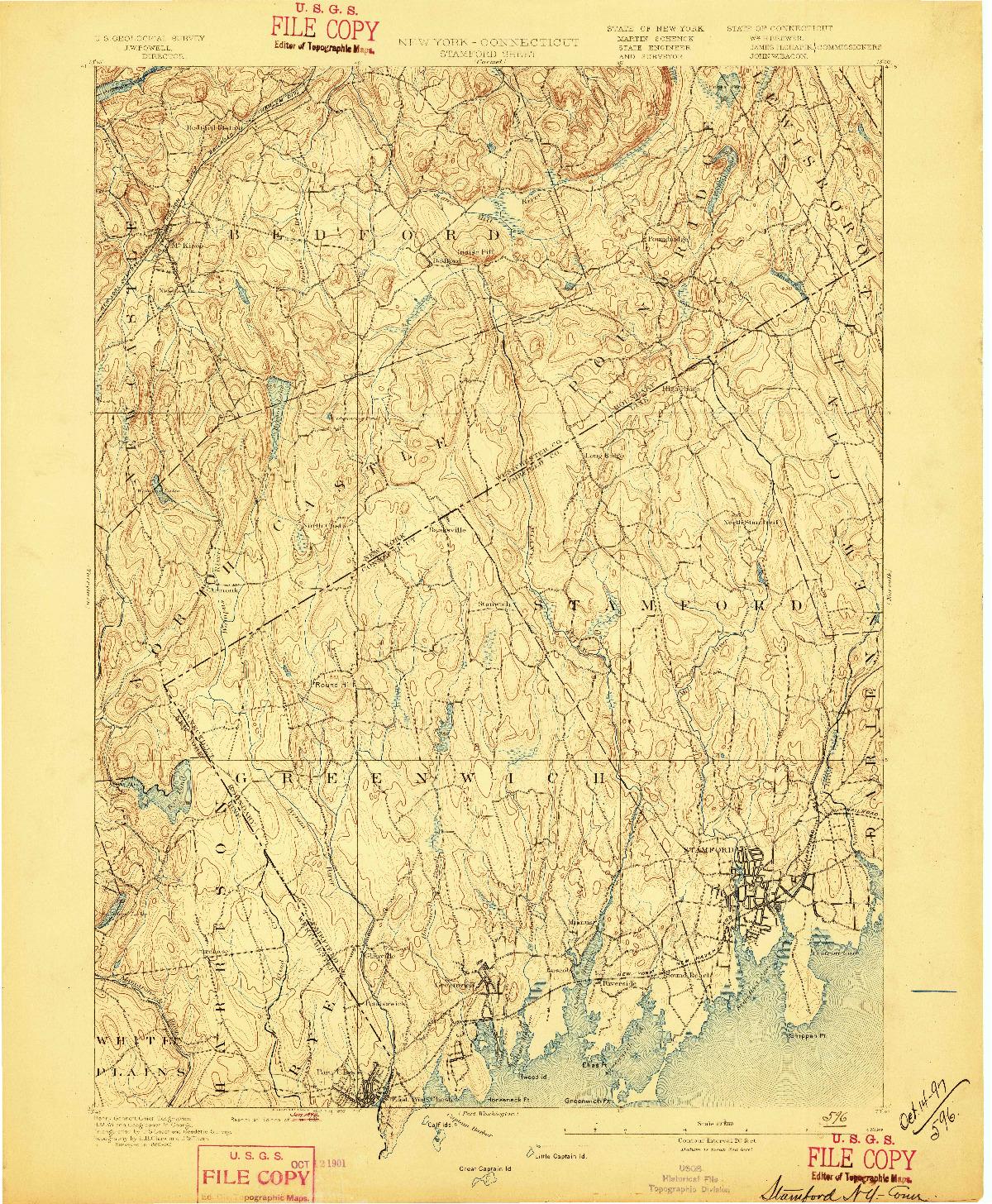USGS 1:62500-SCALE QUADRANGLE FOR STAMFORD, NY 1893