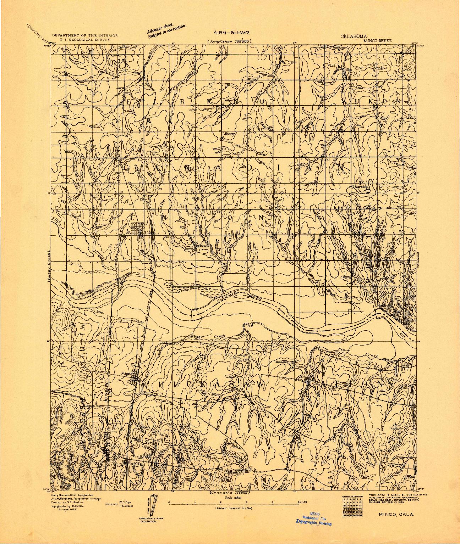USGS 1:62500-SCALE QUADRANGLE FOR MINCO, OK 1893