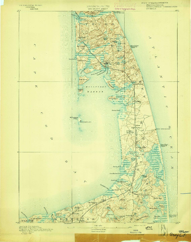 USGS 1:62500-SCALE QUADRANGLE FOR WELLFLEET, MA 1893