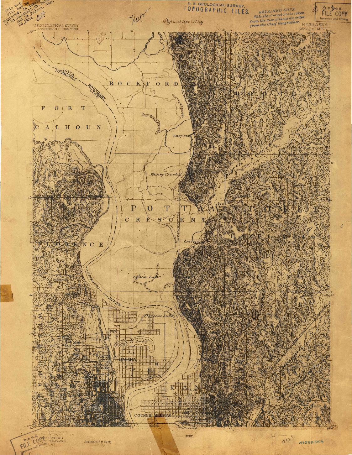USGS 1:62500-SCALE QUADRANGLE FOR OMAHA, NE 1893