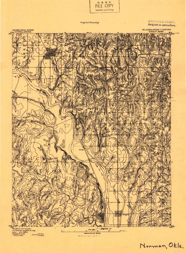 USGS 1:96000-SCALE QUADRANGLE FOR NORMAN, OK 1893