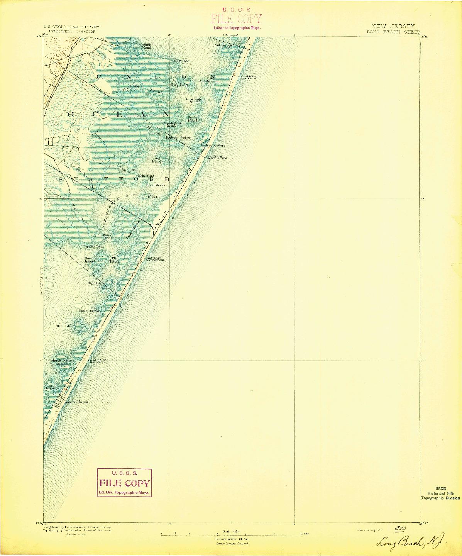USGS 1:62500-SCALE QUADRANGLE FOR LONG BEACH, NJ 1893