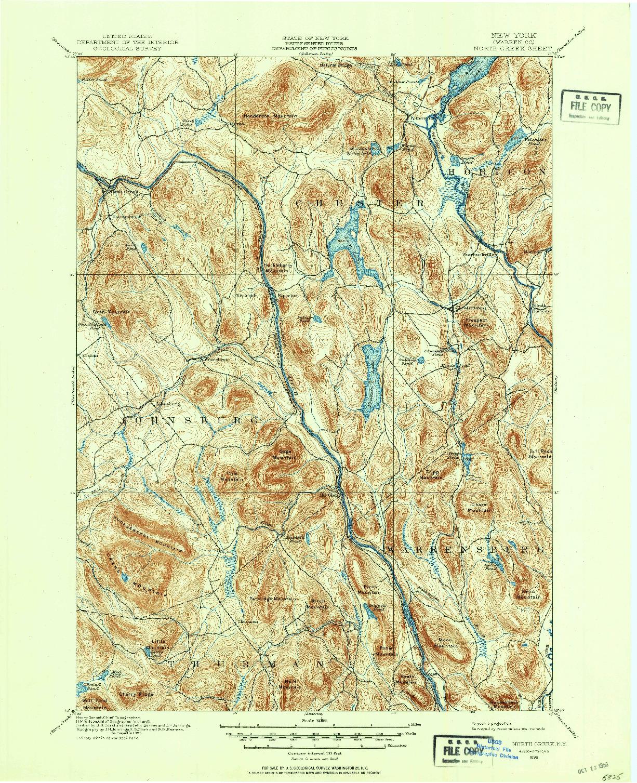 USGS 1:62500-SCALE QUADRANGLE FOR NORTH CREEK, NY 1895