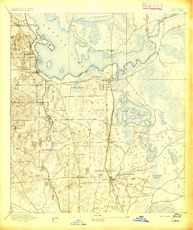 USGS 1:62500-SCALE QUADRANGLE FOR CITRA, FL 1895