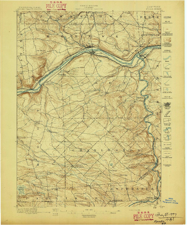 USGS 1:62500-SCALE QUADRANGLE FOR FONDA, NY 1896