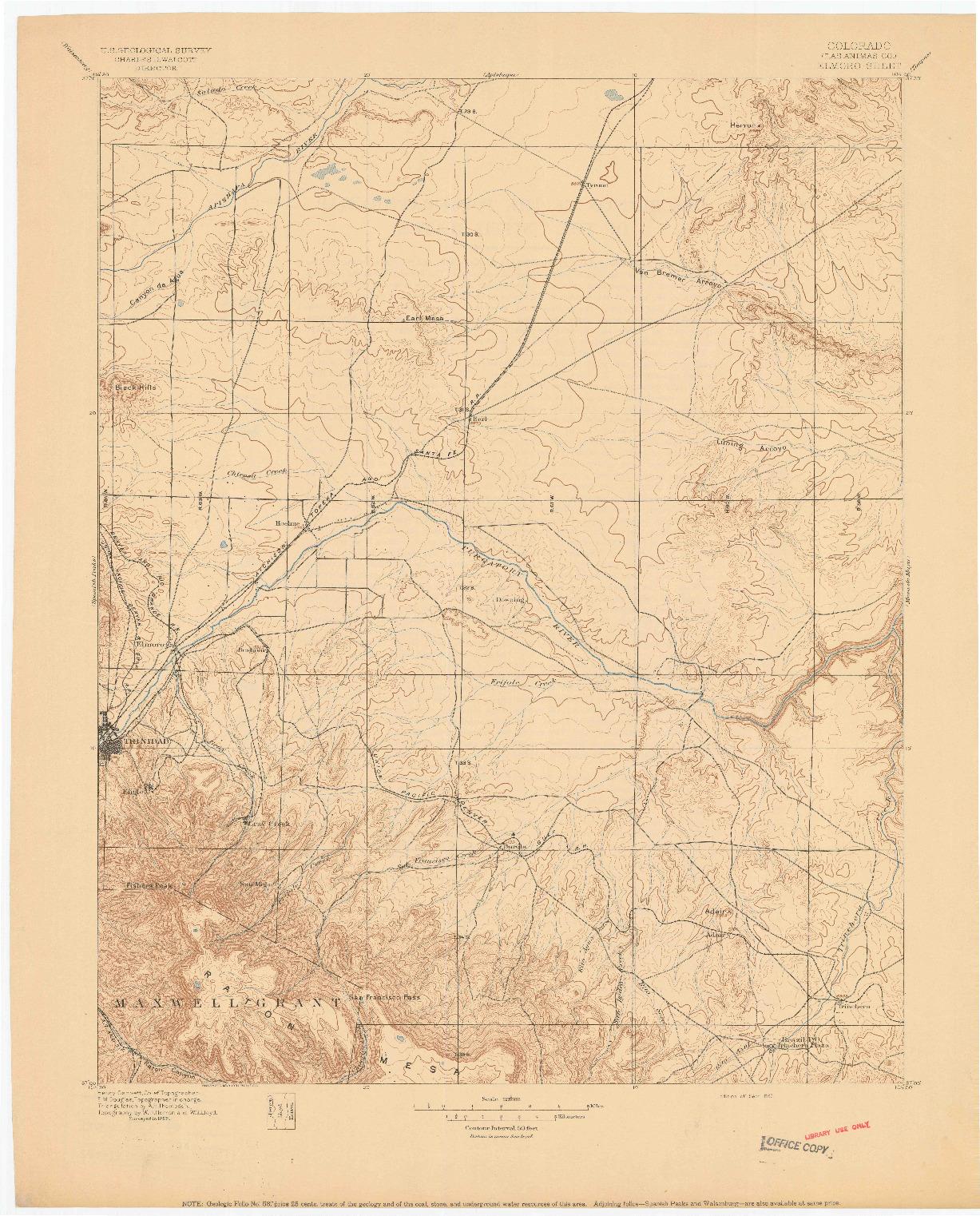 USGS 1:125000-SCALE QUADRANGLE FOR ELMORO, CO 1897