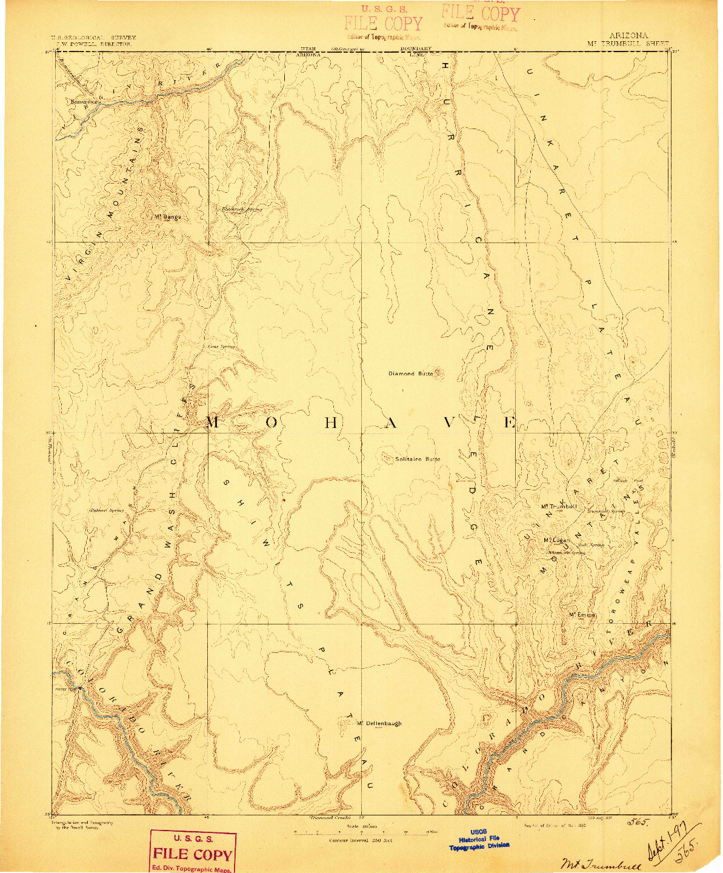 USGS 1:250000-SCALE QUADRANGLE FOR MT. TRUMBULL, AZ 1892