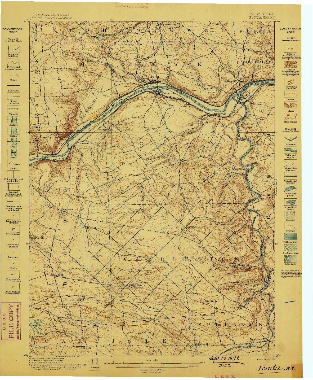 USGS 1:62500-SCALE QUADRANGLE FOR FONDA, NY 1898