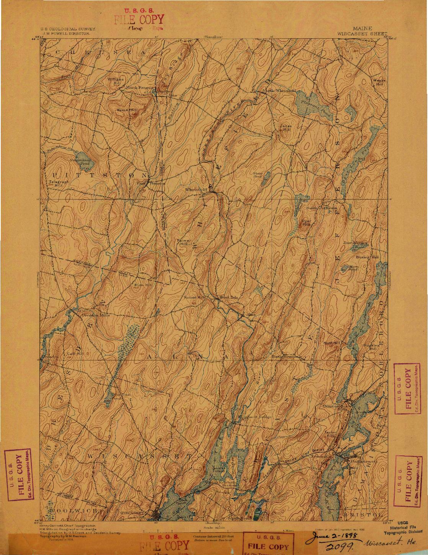 USGS 1:62500-SCALE QUADRANGLE FOR WISCASSET, ME 1893