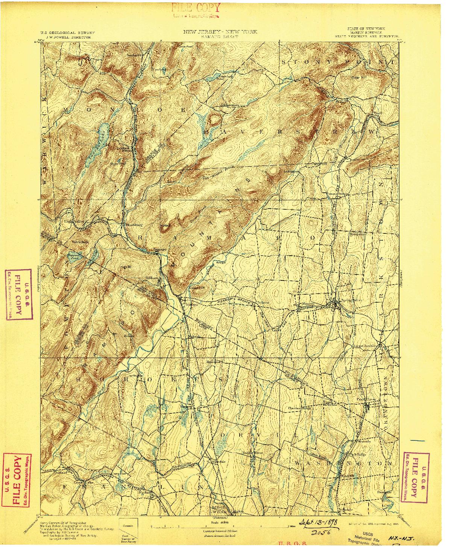 USGS 1:62500-SCALE QUADRANGLE FOR RAMAPO, NJ 1893