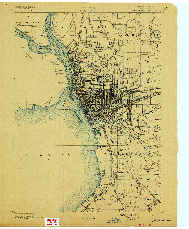 USGS 1:62500-SCALE QUADRANGLE FOR BUFFALO, NY 1894