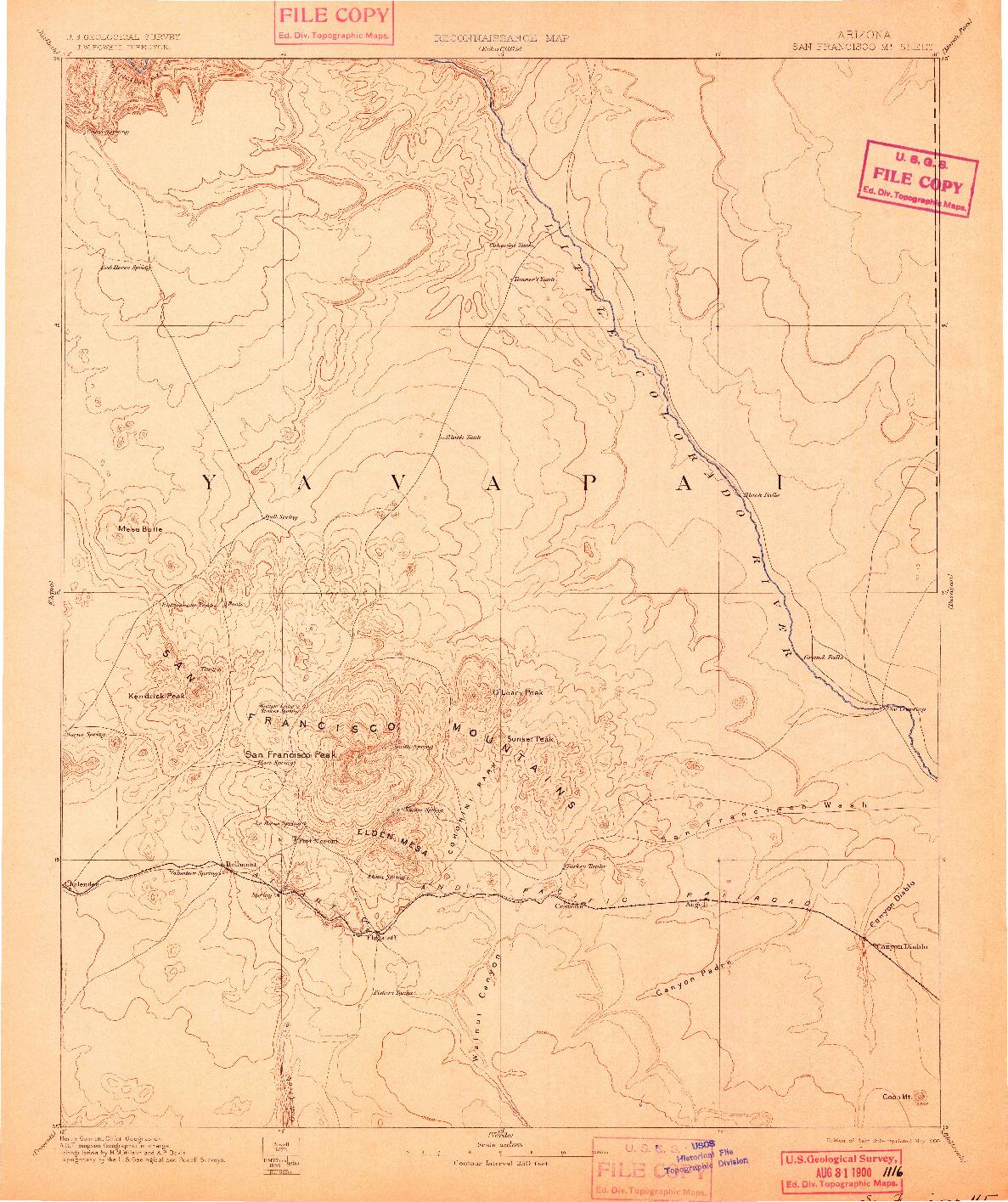 USGS 1:250000-SCALE QUADRANGLE FOR SAN FRANCISCO MTNS, AZ 1894
