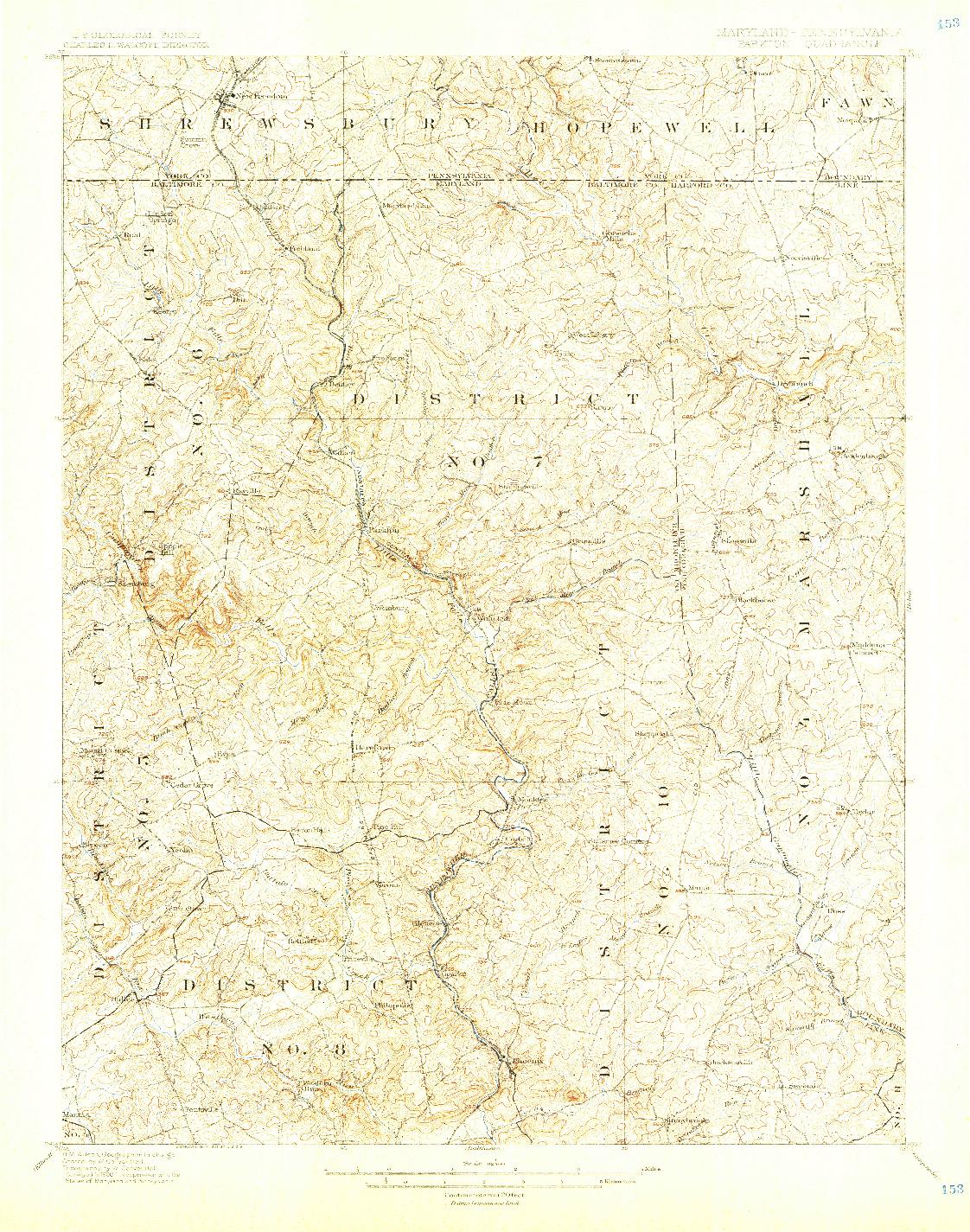 USGS 1:62500-SCALE QUADRANGLE FOR PARKTON, MD 1900