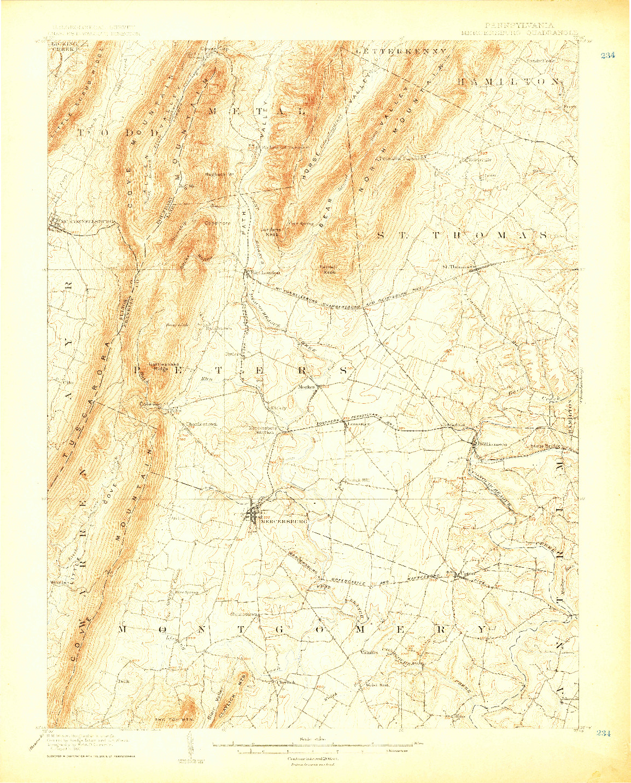 USGS 1:62500-SCALE QUADRANGLE FOR MERCERSBURG, PA 1900