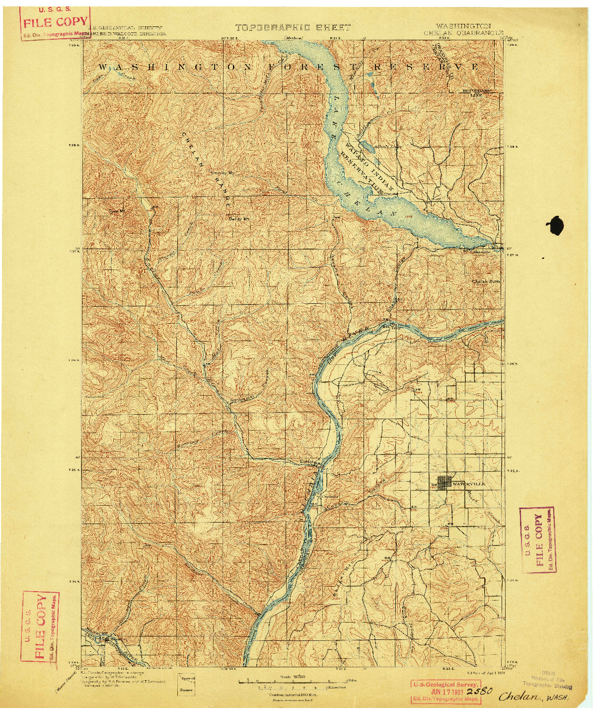 USGS 1:125000-SCALE QUADRANGLE FOR CHELAN, WA 1901