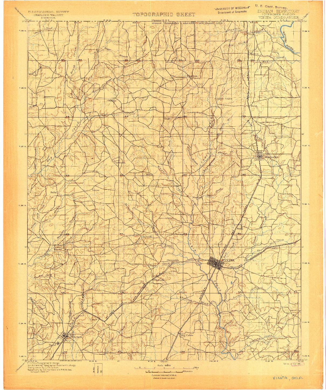 USGS 1:125000-SCALE QUADRANGLE FOR VINITA, IT 1901