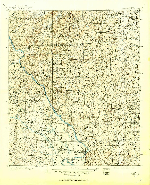 USGS 1:125000-SCALE QUADRANGLE FOR WETUMPKA, AL 1901