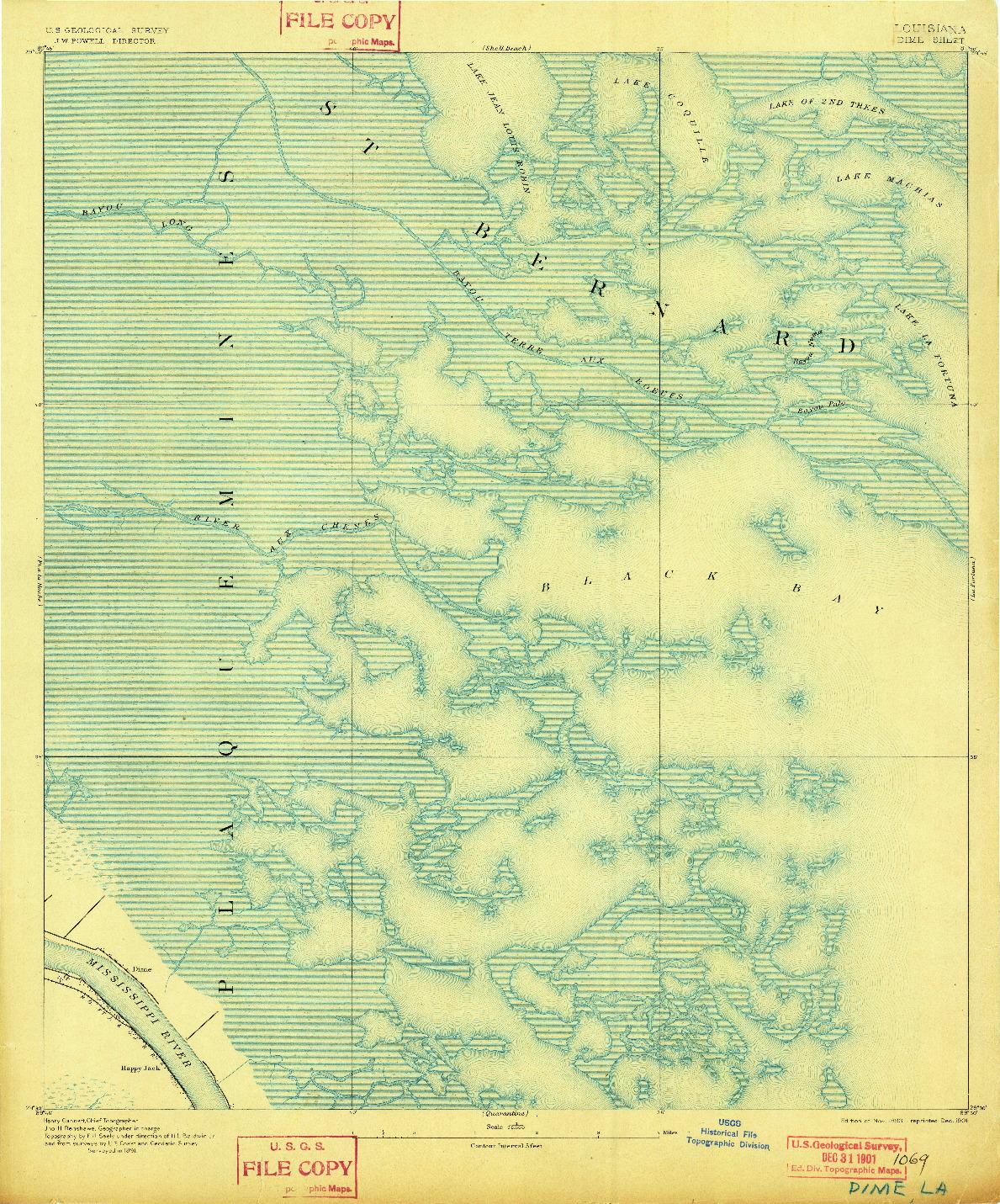 USGS 1:62500-SCALE QUADRANGLE FOR DIME, LA 1893