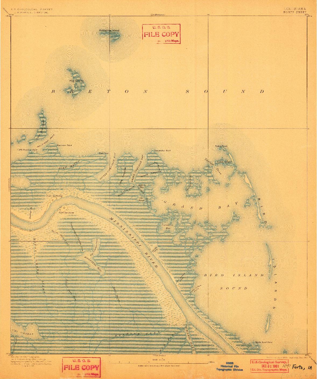 USGS 1:62500-SCALE QUADRANGLE FOR FORTS, LA 1893