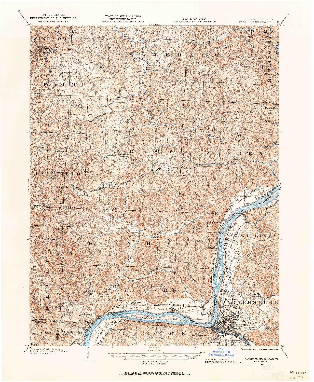 USGS 1:62500-SCALE QUADRANGLE FOR PARKERSBURG, OH 1902