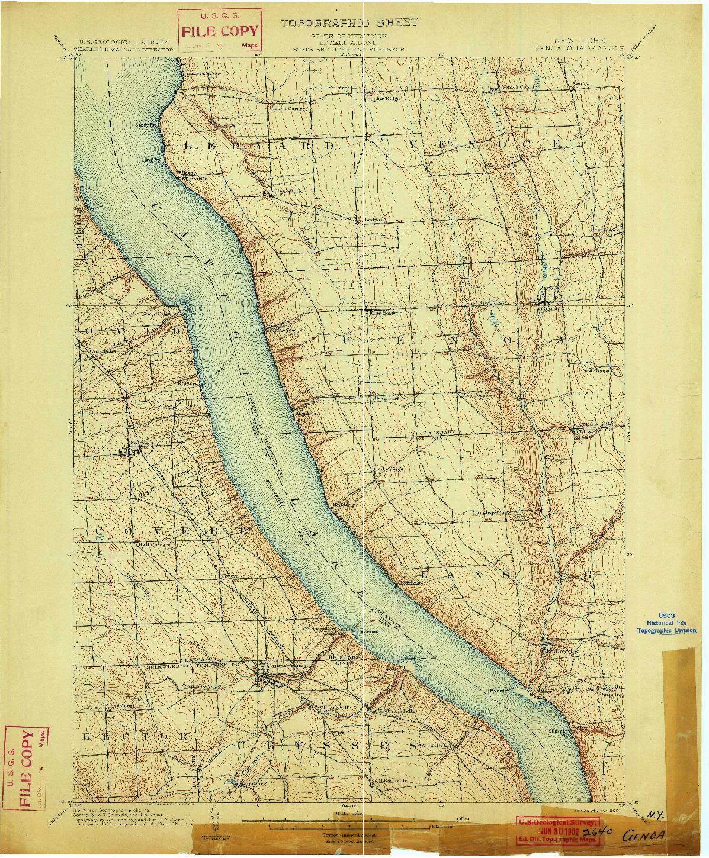 USGS 1:62500-SCALE QUADRANGLE FOR GENOA, NY 1902