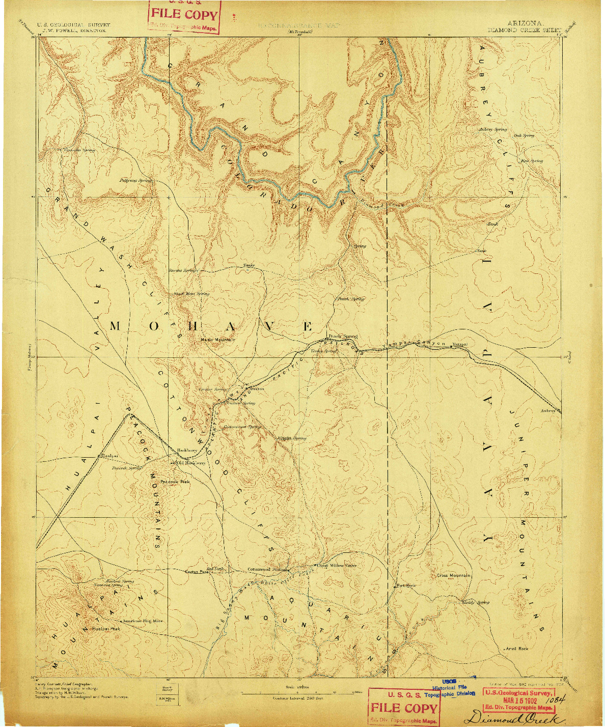 USGS 1:250000-SCALE QUADRANGLE FOR DIAMOND CREEK, AZ 1892