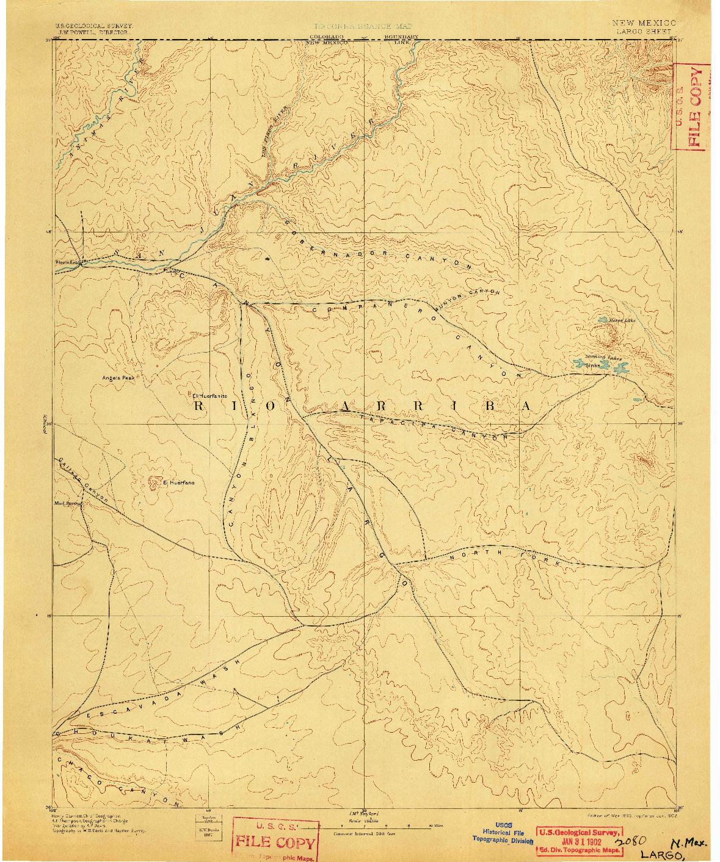 USGS 1:250000-SCALE QUADRANGLE FOR LARGO, NM 1895