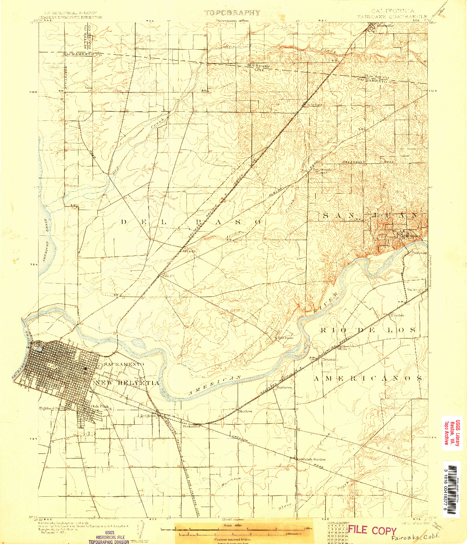 USGS 1:62500-SCALE QUADRANGLE FOR FAIROAKS, CA 1902