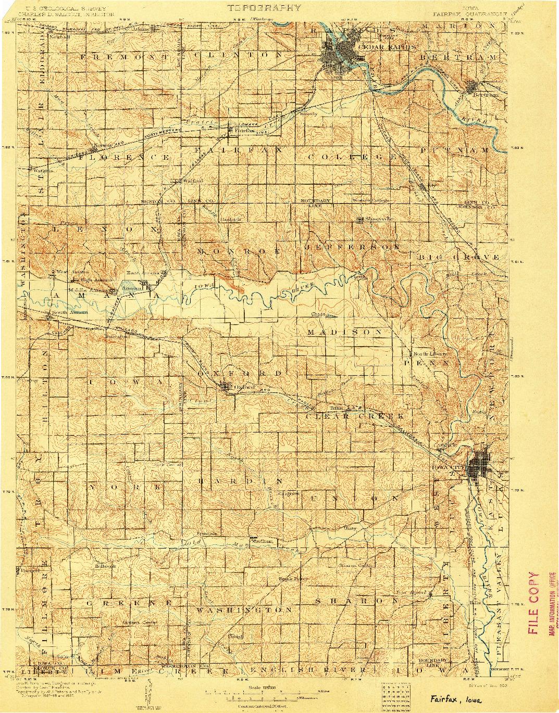USGS 1:125000-SCALE QUADRANGLE FOR FAIRFAX, IA 1903