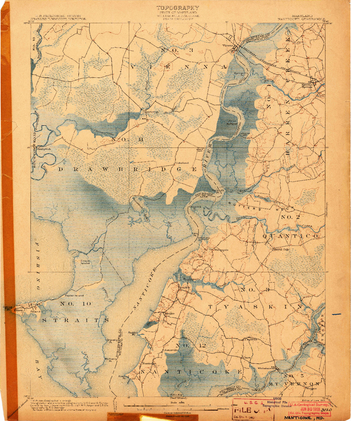 USGS 1:62500-SCALE QUADRANGLE FOR NANTICOKE, MD 1903