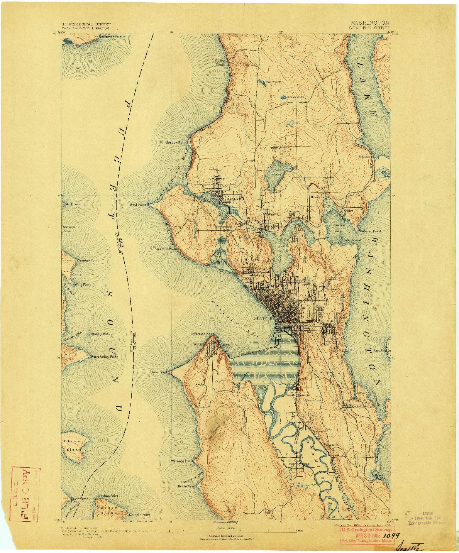 USGS 1:62500-SCALE QUADRANGLE FOR SEATTLE, WA 1894
