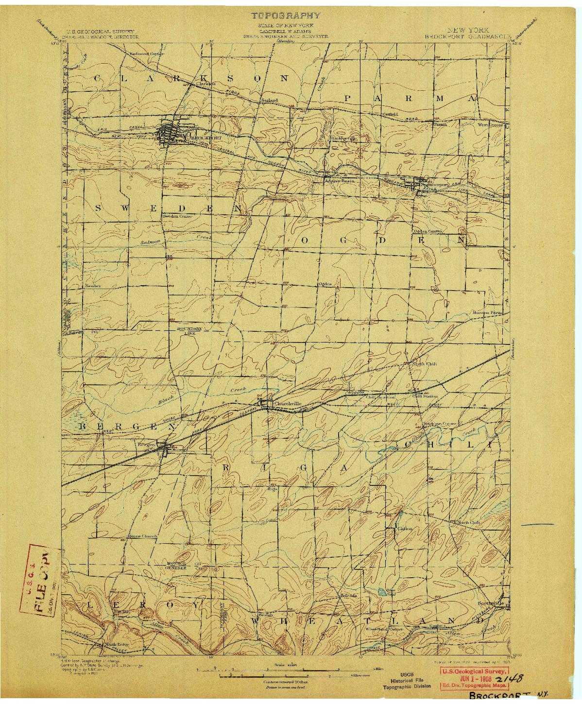 USGS 1:62500-SCALE QUADRANGLE FOR BROCKPORT, NY 1899