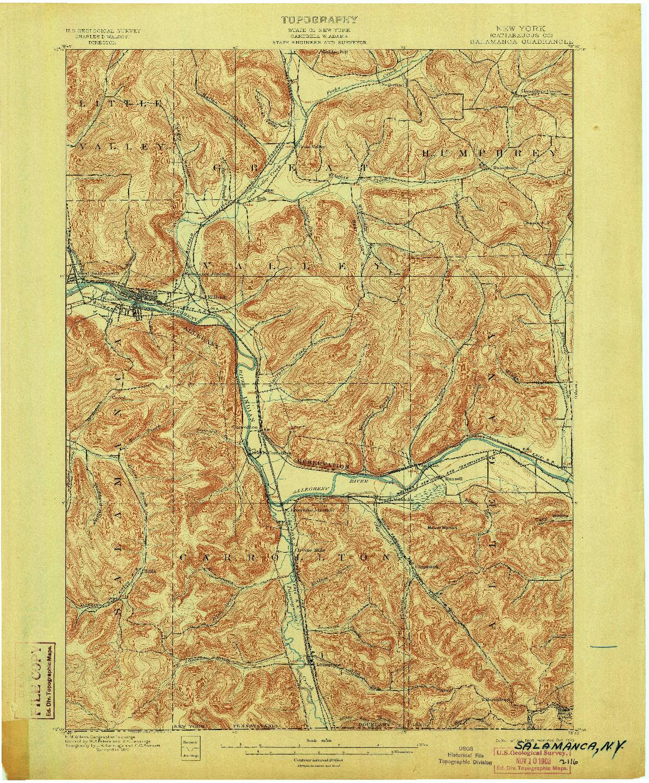 USGS 1:62500-SCALE QUADRANGLE FOR SALAMANCA, NY 1900