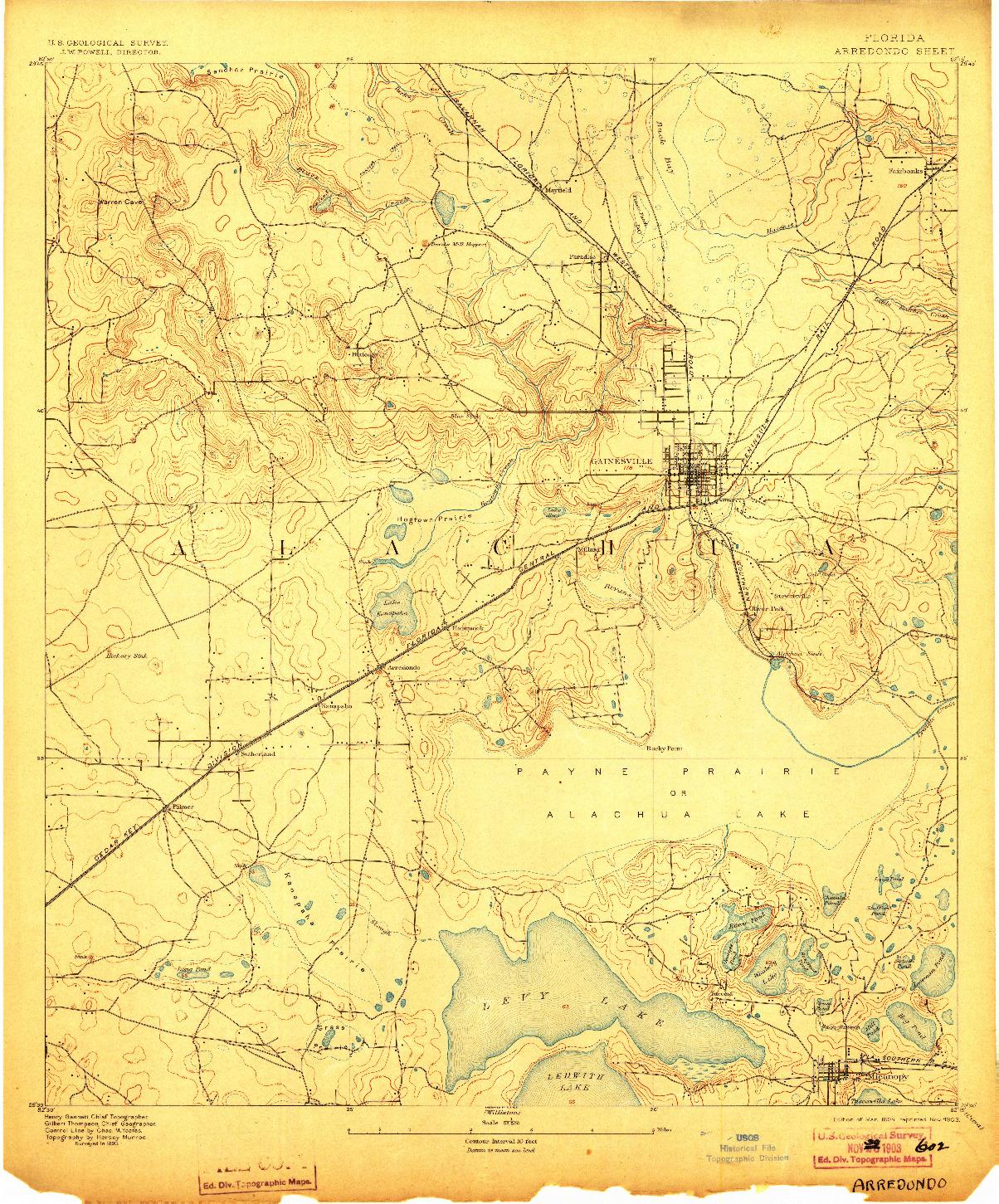 USGS 1:62500-SCALE QUADRANGLE FOR ARREDONDO, FL 1894