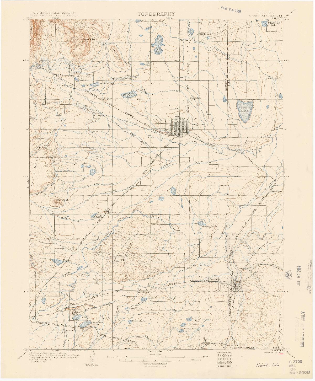 USGS 1:62500-SCALE QUADRANGLE FOR NIWOT, CO 1904