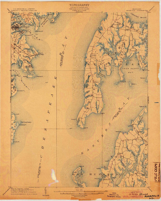 USGS 1:62500-SCALE QUADRANGLE FOR ANNAPOLIS, MD 1904