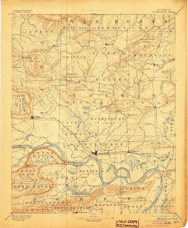 USGS 1:125000-SCALE QUADRANGLE FOR MORRILLTON, AR 1894