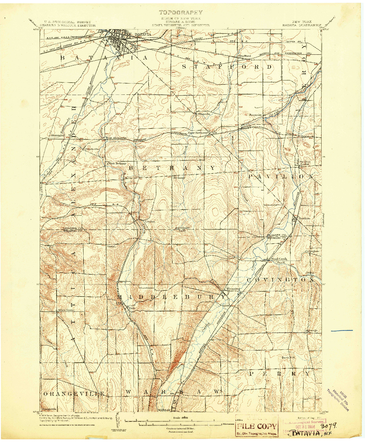 USGS 1:62500-SCALE QUADRANGLE FOR BATAVIA, NY 1904