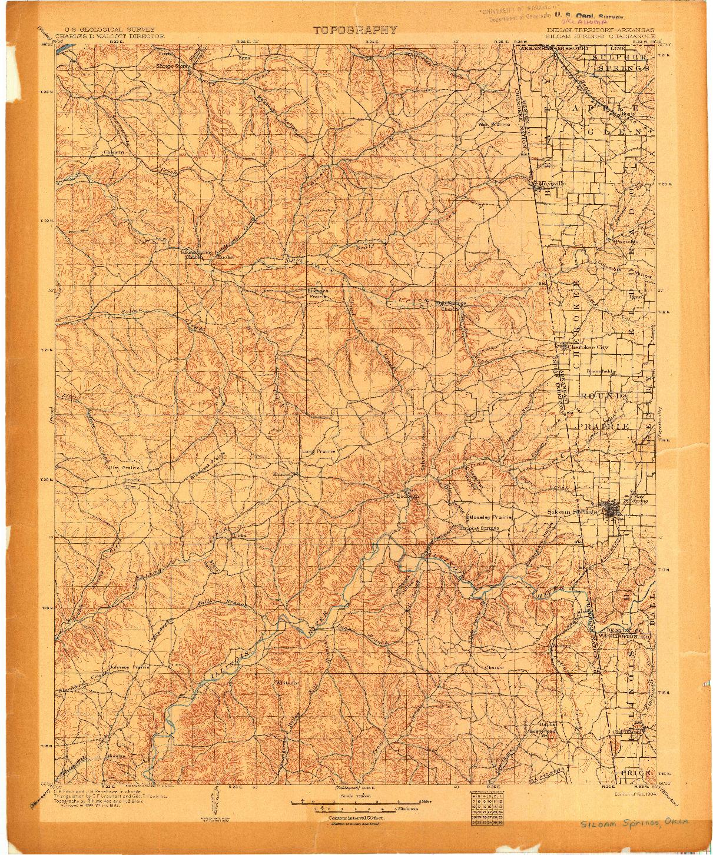 USGS 1:125000-SCALE QUADRANGLE FOR SILOAM SPRINGS, IT 1904