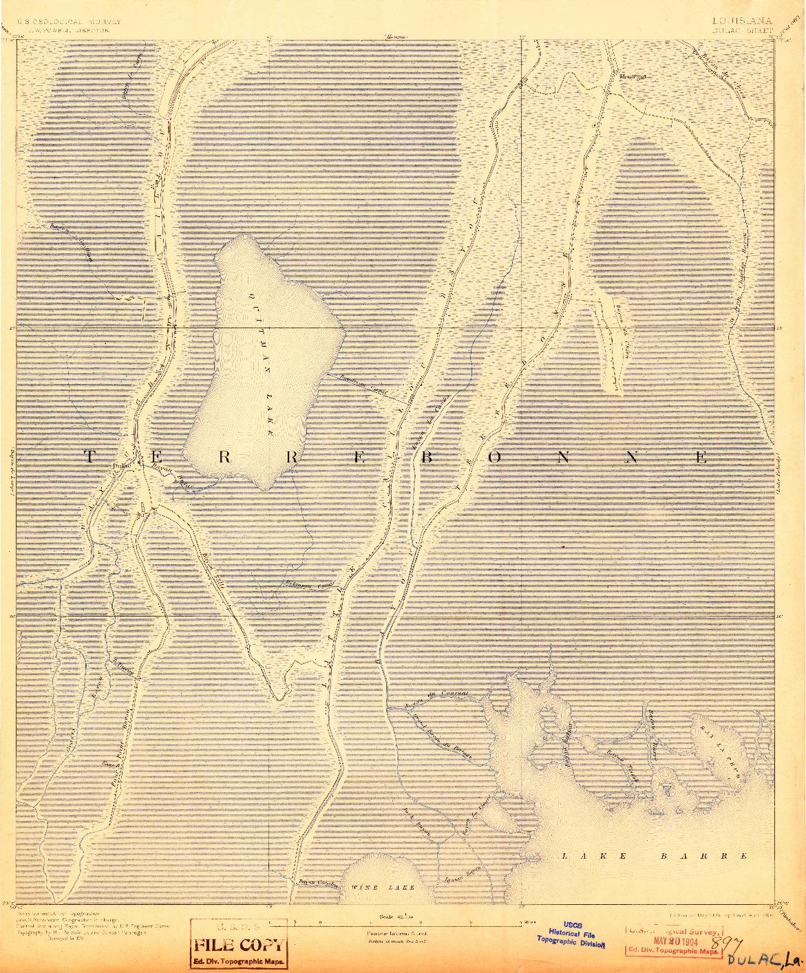 USGS 1:62500-SCALE QUADRANGLE FOR DULAC, LA 1894