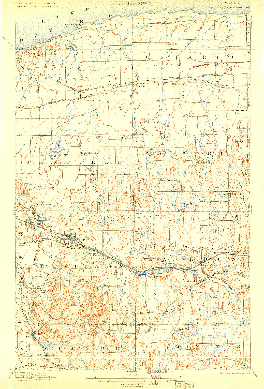 USGS 1:62500-SCALE QUADRANGLE FOR MACEDON, NY 1900