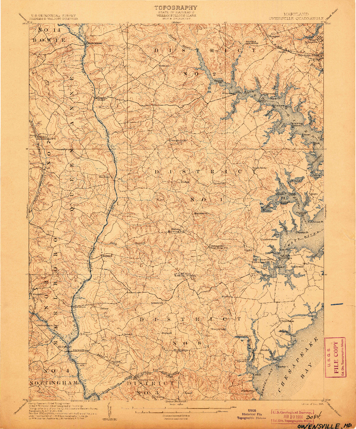 USGS 1:62500-SCALE QUADRANGLE FOR OWENSVILLE, MD 1905
