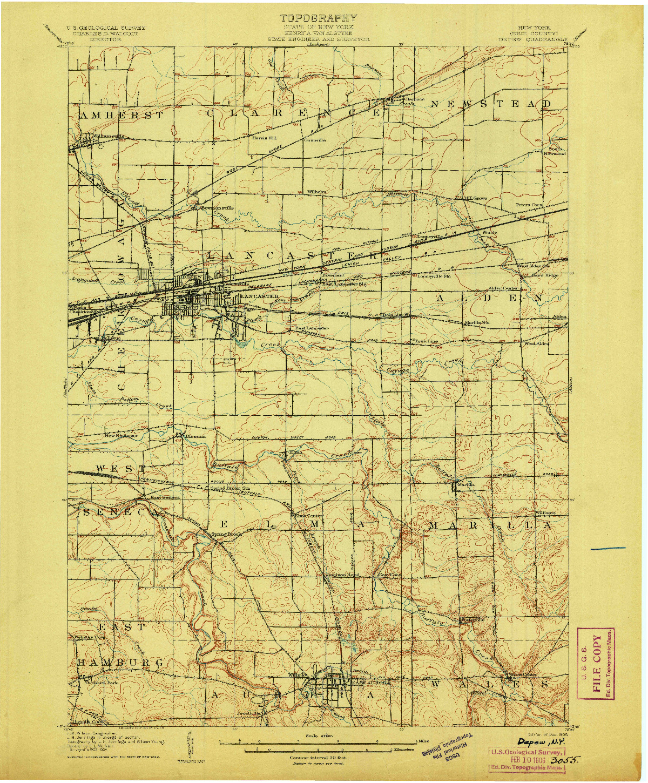 USGS 1:62500-SCALE QUADRANGLE FOR DEPEW, NY 1905