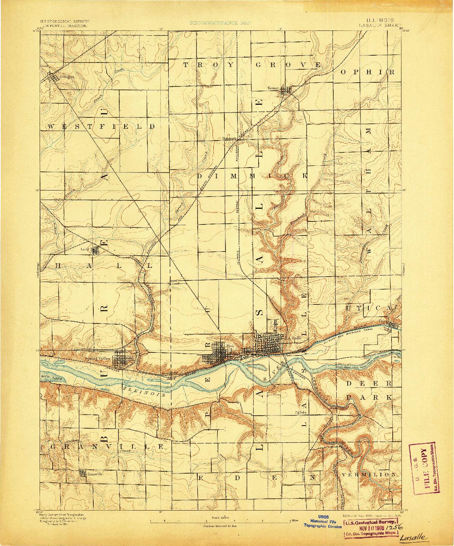 USGS 1:62500-SCALE QUADRANGLE FOR LA SALLE, IL 1893